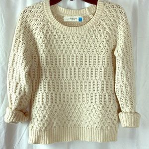 Anthropologie Sparrow Ivory Detailed Sweater S